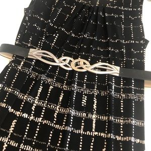 Chico's adjustable black and silver belt